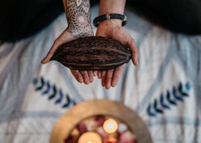 Kakaozeremonie mit Lydia, Martin & Gastlehrer